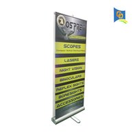 Wholesale Show Trade - Double Sides Aluminum Roll up Dispaly Equipment for Promotion,Trade Show Retractable Banner Stand BST1-7 with banner