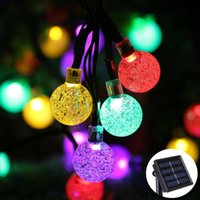 Solar Powered Christmas Tree Decor Waterproof 6M 30 Leds Crystal Bubble Ball Light Casamento Ano Novo Holiday Fairy Lamp String