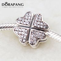 Wholesale sterling stopper for sale - Group buy DORAPANG Sterling Silver CZ Pave Bead Petals Of Love Clip Flower Stopper Charm Beads DIY Jewelry Fit Charm Bracelet Fashion Beads