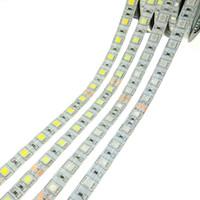 Wholesale Strip Dc24v - 2017 high quality LED Strips DC24V 5050 Flexible LED Light RGB LED Strip 60LEDs m 5m lot Holiday lamp Lighting