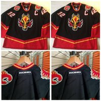 Wholesale Flame Numbers - Calgary Flames Jerseys KOHO Custom Vintage Throwback Hockey Jerseys Customized Any Name & Any Number All Stiched