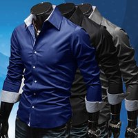 Wholesale Top Wholesale Items - Wholesale- items! Men's Stylish Slim Fit Long Sleeve Dress Shirt Casual Tee Tops Business Shirts