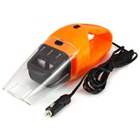 Aspirateur de voiture en gros-Pratique 12V 120W Handheld humide sec à double usage de poussière Super Suction Orange poussière Cleaner Catcher Fresh Air