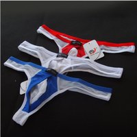 Wholesale Gay Wholesale Underwear - Mens Sexy Thongs Gay Underwear Perspective Transprant Breathable G Strings Thongs Sexy Briefs Underpants Shorts for Men