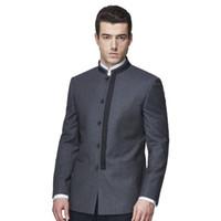 Abiti da uomo Tailor Made Mandarin Collar Casual Tops Blazer Fashion Tute di lana fatte a mano su misura fatte a mano di alta qualità