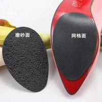 adhesivos para suelas de zapatos al por mayor-100% Nuevos Zapatos Antideslizantes Autoadhesivos Estera de tacón alto Protector de suela de goma Almohadillas Antideslizante Plantilla antepié Tacones Altos Etiqueta
