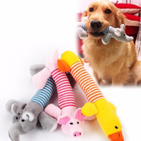 Wholesale Favorite Cartoons - Dog Toys Fashion lovely Stripe Pigs ducks elephants interesting Plush toys dog's favorite Sound Toys