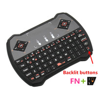 Wholesale R6 Air Box - V6 Multi Function 2.4GHz Mini Wireless Gaming Keyboard Air Mouse Backlit Backlight V6A R6 Touchpad Audio Chat for S905X A95X TV Box