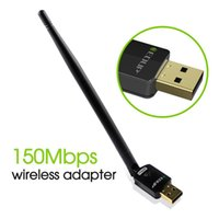 Adapter Adapter Wifi USB 2.0 Adapter con scheda USB LAN Dongle per antenna per computer portatile 100pcs / lot con antenna 6dbi Antenna MTK7601