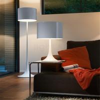 Wholesale Classical Table Lamps - Designer Spun Light T2 Light FOLS Classic Design Modern White Metal Table Lamp Minimalist Bedroom Lamp Bedside Lamp Office Light Fitting