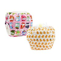 Wholesale Pants For Baby Girls - Free Shipping YIFASHION 2pcs pack Cute Owl Duck Girl Washable Swimming Pants, Reusable Swimming Nappy For baby 0-2ages