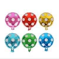 décorations pour enfants achat en gros de-Ballon d'hélium Dot grande feuille d'aluminium ballons cadeau gonflable anniversaire ballon fête décoration ballon 10 pouces