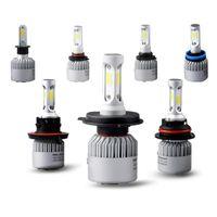 Wholesale White Led Headlight Bulbs - Car led h7 h4 hb3 9005 9006 h3 h11 h13 9004 9007 COB Auto Headlight Kits 6500 K 8000LM Hi   lo Beam Car LED bulb