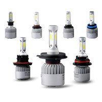 Wholesale H7 Led Kit - Car led h7 h4 hb3 9005 9006 h3 h11 h13 9004 9007 COB Auto Headlight Kits 6500 K 8000LM Hi   lo Beam Car LED bulb