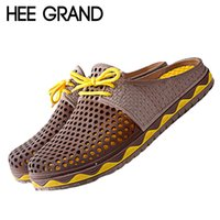 Wholesale Rubber Clogs For Women - Wholesale- HEE GRAND Summer Men Clogs Women Lovers Sandals 2016 Men Shoes Woman Slip On Flats Casual Slippers Women Shoes For Man XWZ1955