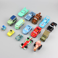 Wholesale Tow Mater Diecast Car - Kids tiny mini cute cars toys chewell mooing cow tractors mater tow truck race bus police model metal diecast car toy pixar for children boy