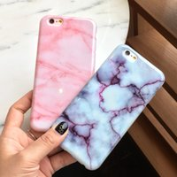 New Wine Red Pink Marble stone Soft TPU Case para iPhone 7 6 6S 7 Plus Stylish Cute Unique Phone Cover Cases