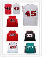 Wholesale Male Shorts Hot - 2017 hot sale wholesale Adult male #45 Basketball jerseys high quality 100% stitched White red Black ..Men #23 jerseys S-XXL free shipping