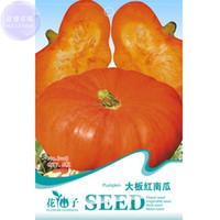 Wholesale Edible Sweets - BELLFARM Orange Red Pumpkin Flat Big Vegetables Seeds, 6 seeds, sweet fruits, seeds edible organic heirloom garden plants herbs