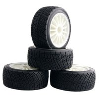 Wholesale Hpi Flux - RC HPI 107870 White Rim Tires&Wheel 4PCS sets For Electric WR8 Flux