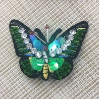 Wholesale Acrylic Butterfly Beads - New Fabic Beads Butterfly Brooches Fashion Women Girls Vintage Brooch Kroea Style Jewelry Accessories Wholesale Free Shipping