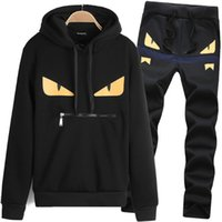 Wholesale Sets Sportswear - Mens Hoodies And Sweatshirts Sweat Suit Brand Clothing Men's Tracksuits Jackets Sportswear Sets Jogging Suits Hoodies free shipping