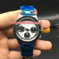 Wholesale full manual resale online - High quality hands winding chronograph watch full works Paul Newman retro style model mm stopwatch manual movement wristwatch
