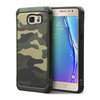 Wholesale Military Tough Case Cover - Military Camouflage Case For Samsung Galaxy S8 Plus S7 Edge Hybrid Tough Rugged TPU PC Shockproof Back Cover