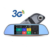 Wholesale Monitor Camera Parking Sensor - 7'' 1080P 3G Universal Android Car DVR Rearview Mirror With Wifi Bluetooth FM GPS Navigation Support Parking Monitoring