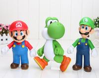 "Wholesale Super Mario 23cm - 3styles Super Mario Collection Figure Mario Yoshi Luigi PVC Action Figure Toy Doll 9""23cm good kids toy gify"