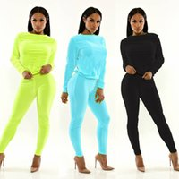 Wholesale Womens Knitted Hoodies - Plus Size Women Sets New Autumn Winter Casual Long Sleeve Womens 2 Piece Set Slim Pants Suits+Hoodies Suits Free Shipping