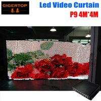 P9 4M * 4M levou cortina de vídeo com 1936 pcs Tricolor LED Visor Cortina para DJ Wedding Backdrops Light Curtain PC Mode Control