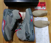 Wholesale Camo Lycra Men - Air Retro 5 CAMO 5s DARK STUCCO Whih Box Men size Wholesale Basketball Shoes Free shipping