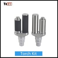 Wholesale Torch Design - Original Yocan Torch Vaporizer E Cigarette Kit for Wax & Dry Herb Vaporizer With Quartz Dual Coil Black Silver Color Nero Technology Design