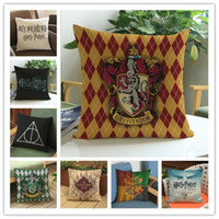 Barato Cadeira Clássica-Clássico Harry Potter Travesseiro Case 45 * 45cm Throw Pillow Cushion Covers for Chair Sofá Carro Decoração para casa Têxtil Presentes