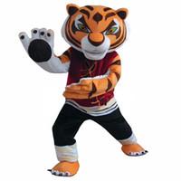 Wholesale Tiger Mascots Costumes - Tigress Tiger Mascot Costume Kung Fu Tiger Cartoon Fancy Dress Adult Free Shipping