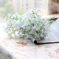 Wholesale Gypsophila Flowers - 10 PCS Beautiful Artificial Gypsophila Silk Flowers Wedding Decoration F161