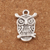 Owl Lucky Bird Charm Beads 135pcs / lot 14x22.5mm Antique Silver Pendants Fashion Jewelry DIY L996