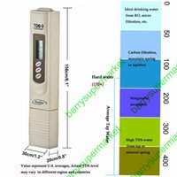 Wholesale Measurement Battery - Wholesale- Digital TDS Meter TDS Tester TDS monitor Water Quality Purity tester Temperature Measurement thermometer with battery TDS-3