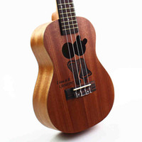 Wholesale I Guitar - Wholesale- Concert Ukulele 23 Inch Hawaiian Guitar 4 Strings Ukelele I Love U you Guitarra Mahogany Handcraft Musical Instruments Cartoon