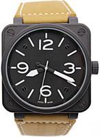 caja de reloj deportivo al por mayor-New Men  Reloj mecánico automático de edición limitada Reloj de aviación deportivo para hombre Bell Aviation Relojes Black Case BR01-92 Negro Caucho Relogio masculino