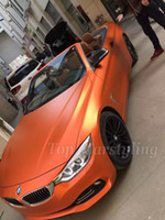 Orange Metallic matt Chrom Vinyl Wrap mit Luftblase Free Full Car Wrap Körper Abdeckung Film Styling Folie 1,52 * 20M / Roll (5ftx66ft)