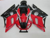99 yamaha r6 körper großhandel-Aftermarket Karosserieteile Verkleidungssatz für Yamaha YZR R6 98 99 00 01 02 rot schwarz Verkleidungssatz YZFR6 1998-2002 HT10