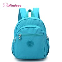 Wholesale Trend Laptop Bags - Mindesa New Mini Backpacks For Teenage Girls Youth Trend Schoolbag Boys Student Bag Nylon Waterproof Laptop Backpack Women