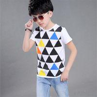 Wholesale Teenage Boy Clothing Styles - 2017 New Style Fashion All-Match Kids Boys Girls T-shirts Childrens Bobo Choses Tops T shirts Girls Clothing Teenage Clothes