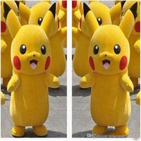 Wholesale Popular Character Mascot Costume - 2017 HOT new High Quality Pikachu Mascot Costume Popular Cartoon Character Costume For Adult Fancy Dress Party Suit