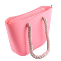 Wholesale Silicone Ladies Handbags - Wholesale-2016 New Big Classic women bags obag style handles ladies Silicone Rubber Waterproof beach handbag women shoulder bags YZ1352