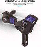 lcd sceen al por mayor-Grandes Lcd Sceen Inteligente Bluetooth Car Car Charger Mp3 Player HX0166