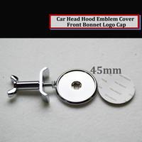 Wholesale mercedes logo - 1pcs Front Bonnet Hood Emblem Logo 45mm SLK CL CARLSSON Appletree AMG Lorinser  B BLUE STAR Color black appletree