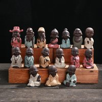 wholesale japanese gifts NZ - Little Monk For Office Home Decor Buddha Ceramics Tea Table Decorative Articles Ornament Gift Many Styles 6 5dh C R